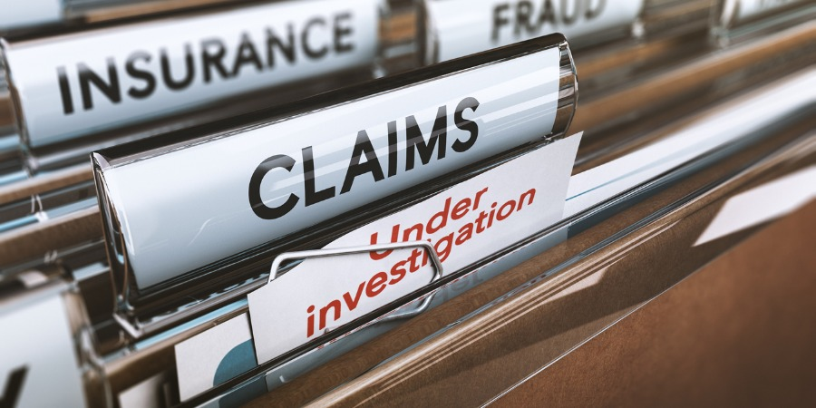 Insurance claims under investigation files