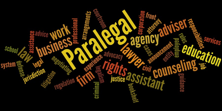Paralegal word cloud concept