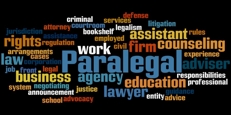 Paralegal word cloud