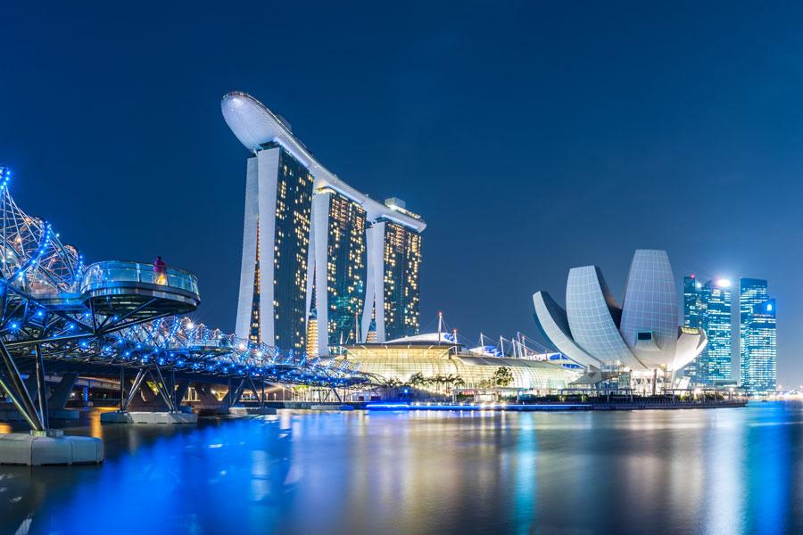 Singapore Night Skyline
