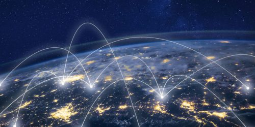 Global network around earth information technology