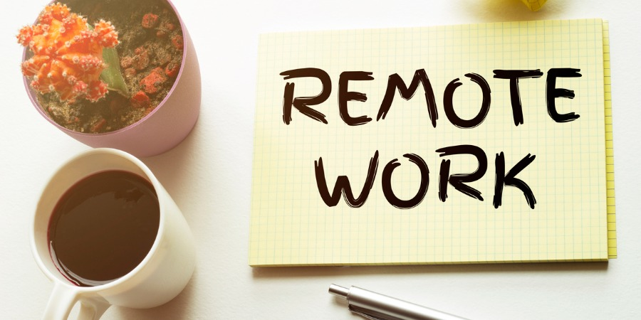Remote work / Work from home sticky note